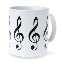 VWK0173 Treble Clef Mug - White
