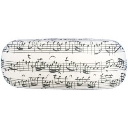 VWP0618 Glasses Case - Sheet Music (White)