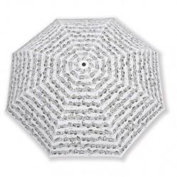 VWT0336 Mini Umbrella - Sheet Music, White