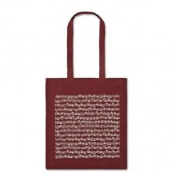 VWT0983L Tote Bag - Sheet Music, Bordeaux (Long Handle)