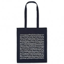VWT0987L Tote Bag - Sheet Music, Navy (Long Handle)