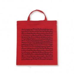 VWT0988 Tote bag Sheet music red