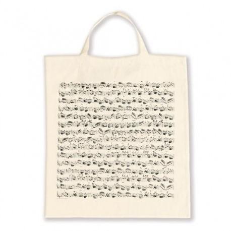 VWT0990 Tote Bag - Sheet Music, White