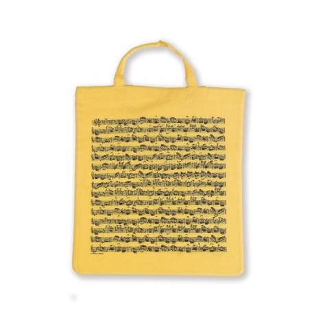 VWT0996 Tote bag Sheet music yellow