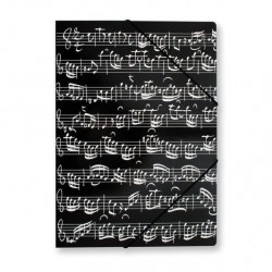 VWB0010 File With Elastic Band - Black, Sheet Music