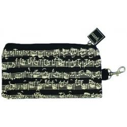 VWT0826 Pencil case line of notes black