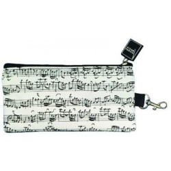 VWT0828 Pencil Case - Line Of Notes, White