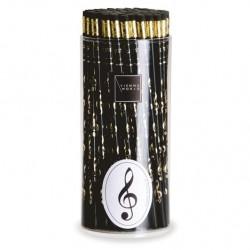 VWZ0676 Pencil box G-clef black (72 pcs)