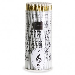 VWZ0677 Pencil box G-clef white (72 pcs)