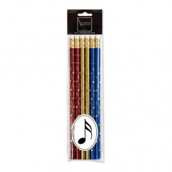 VWZ0727 Pencil Set - Notes (Coloured 6 Pack)