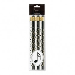 VWZ0737 Pencil Set - Notes (Black & White 6 Pack)