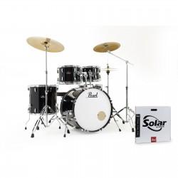 PEARL Roadshow RS525SC/C batteria acustica Jet Black con Piatti e Sgabello